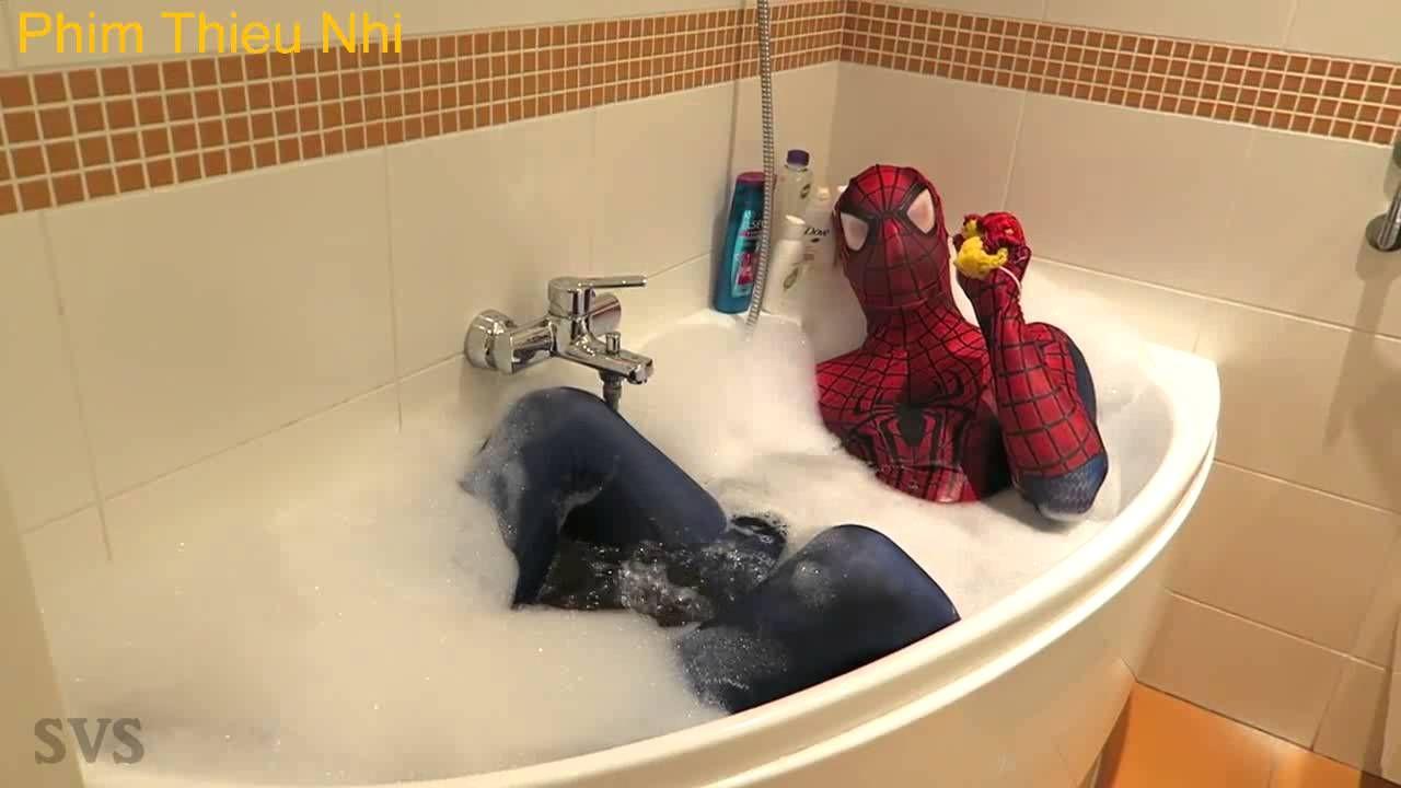 phim thiếu nhi siêu anh hùng người nhện và công chúa tuyết - siêu nhân -  người dơi - người sắt tập1
