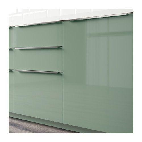 Kallarp High gloss, Kitchens and Doors - k chenr ckwand alu dibond