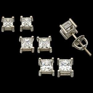Men's Diamond Earrings - See more stunning jewelry at StellarPieces.com!