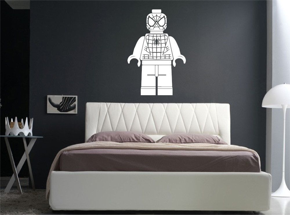 lego spiderman wall art large wall decal/ spiderman lego man wall decal/ lego man & lego spiderman wall art large wall decal/ spiderman lego man wall ...
