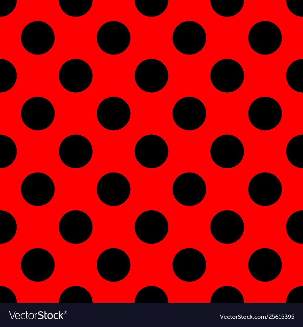 Tile Pattern With Black Polka Dots On Red Vector Image Aff Black Polka Tile Pink Polka Dots Wallpaper Vector Background Pattern Polka Dots Wallpaper