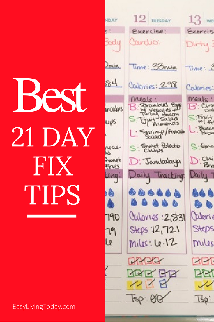 The best 21 Day Fix tips to help you stay on track your entire round without  giving up! via @easylivingtoday