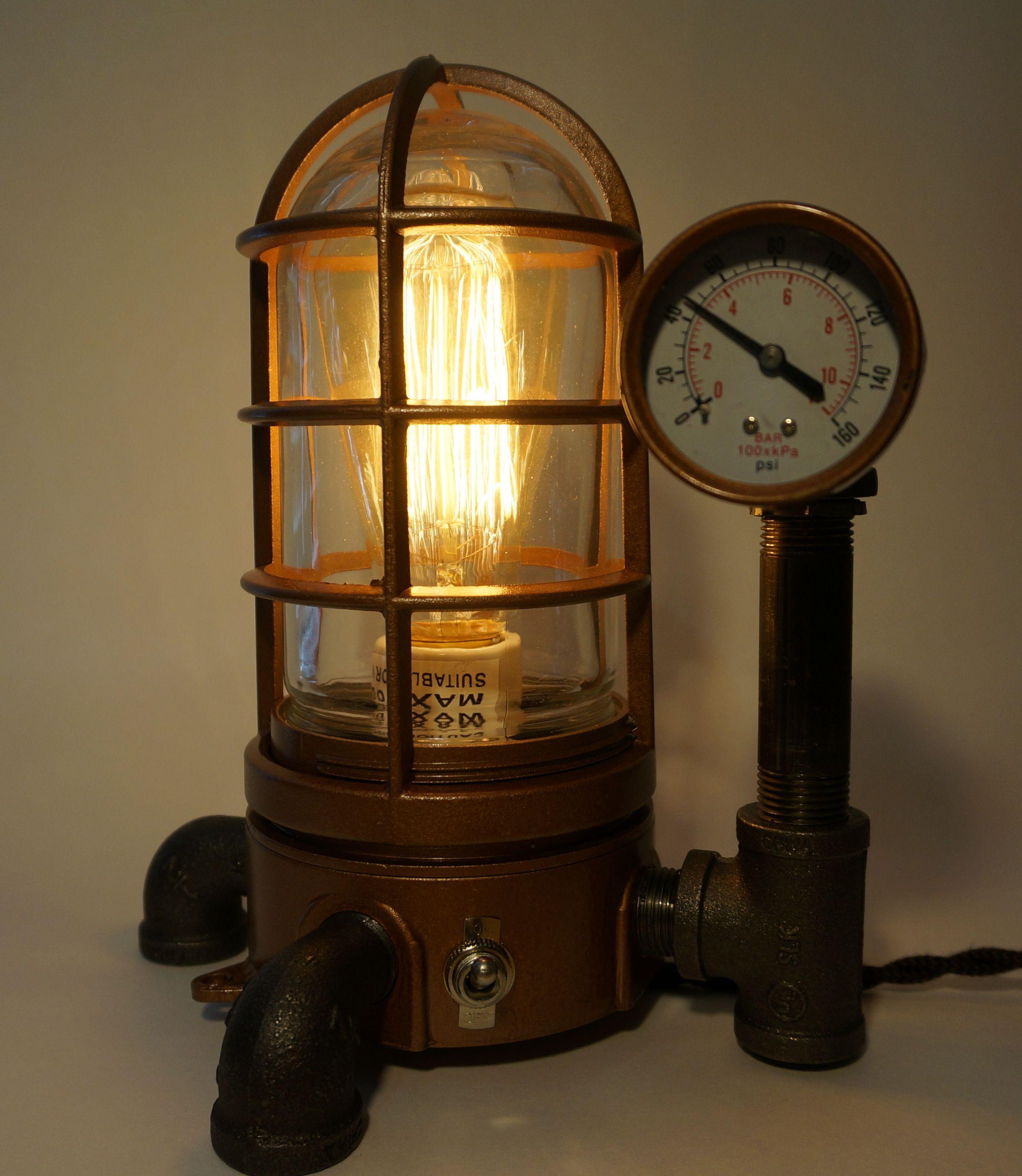 Steampunk Vapor Proof Desk Lamp #43 - SteamLit   Steampunk Bedroom ...