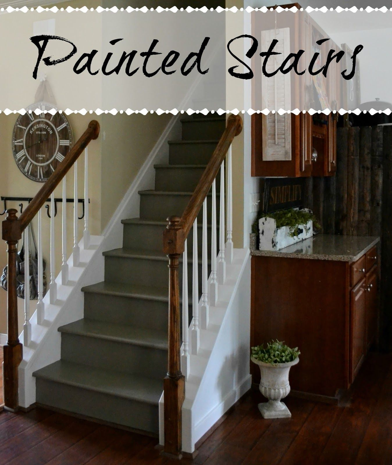 Down To Earth Style: Painted Stairs.i Want To Paint My Stairs! And  Eventually I WILLLLLLL DO THIS!