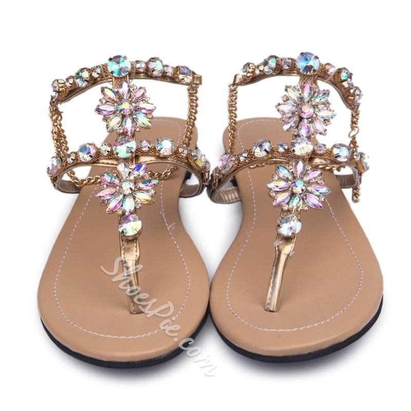 65e8bc72a8b5ba ... Shoespie Rhinestones Chains Flat Sandals 50% off f1b9e 9d956 ...