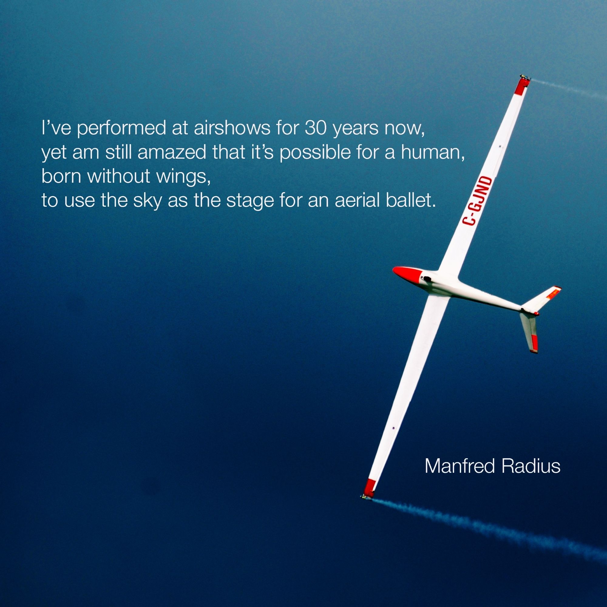 I've watched Manfred Radius do aerobatics in his Salto sailplane, and it's beautiful in a way different from the fast jets or high-roll-rate biplanes. Doesn't surprise me that Manfred maintains his wonder of flight.  Lose the wonder, the excitement, the enjoyment … and your performance will soon also start to sadly decline.  (Original photo credit U.S. Navy, snapped by Edward I. Fagg during the 50th Anniversary Naval Air Station Oceana Air Show)
