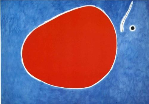 The Flight of the dragonfly in Front of the Sun. Joan Miro, 1968. #JoanMiro