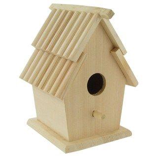 Wood Slat Roof Birdhouse Hobby Lobby