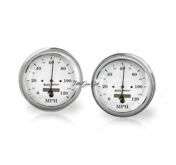 Classic Car Speedometer Cuff Links – Hot Rod Cufflinks – Auto Racing for Father …