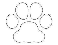 Pin on Paw Print Outline
