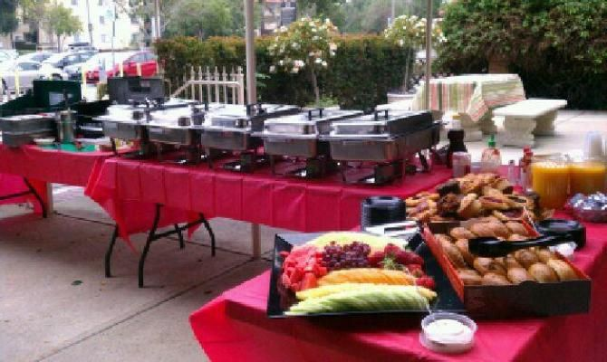 Outdoor Buffet Ideas Red Tables Outdoor Buffet Dinner Decoration Wedding Catering