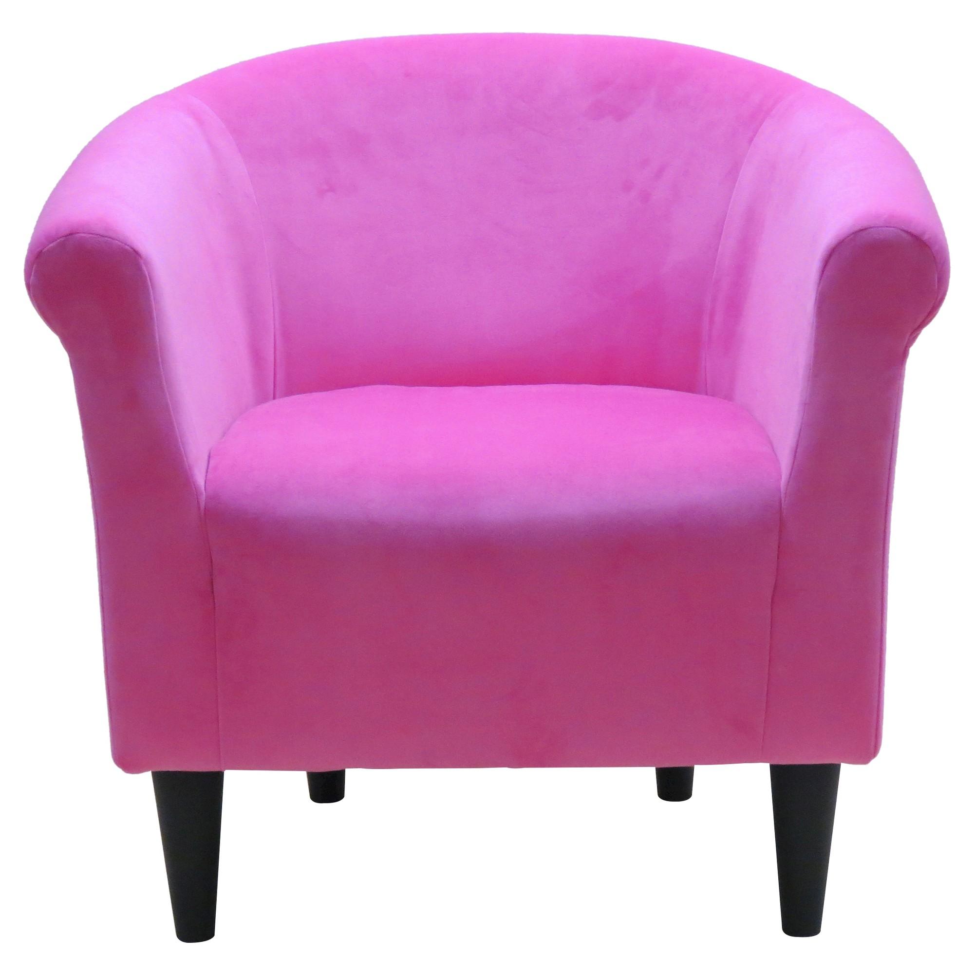 Savannah Club Chair   Hexi Blue   Bubble Gum Pink, Gumball Pink