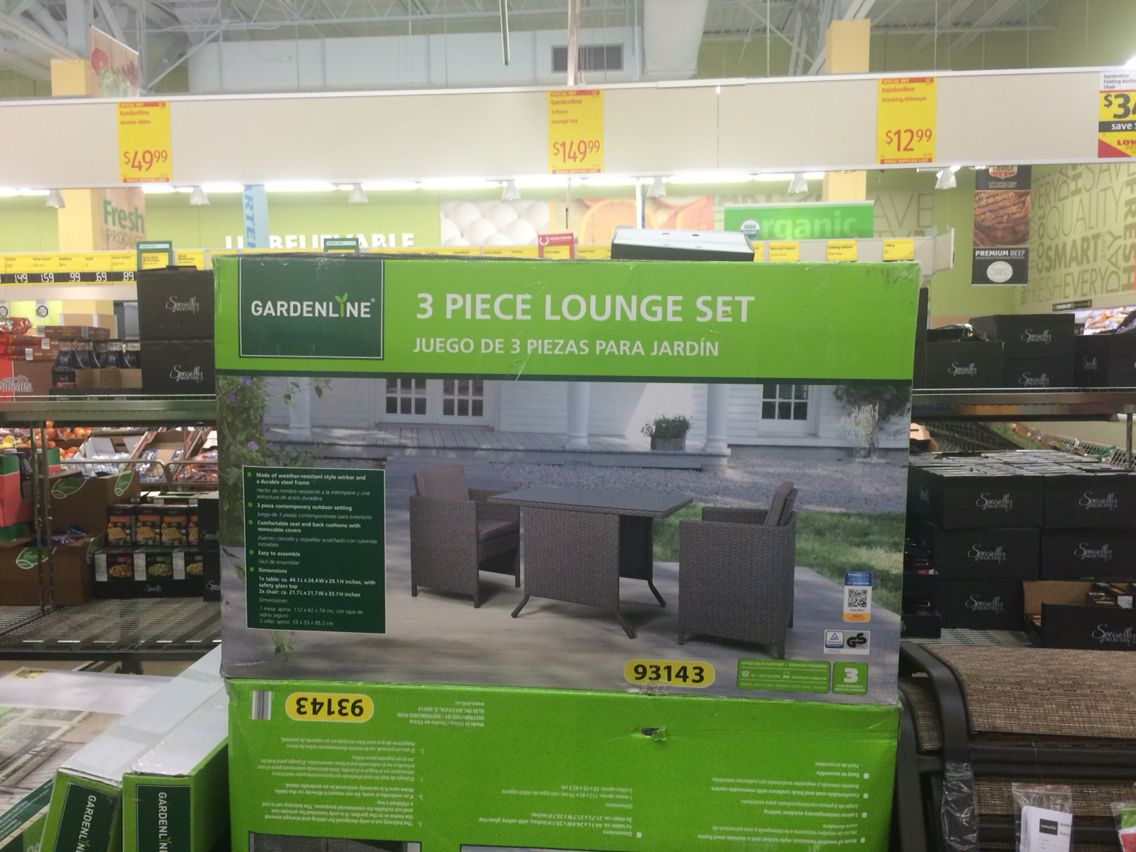 3 Piece Lounge Set 149 99 Aldi S For Our Home Lawn