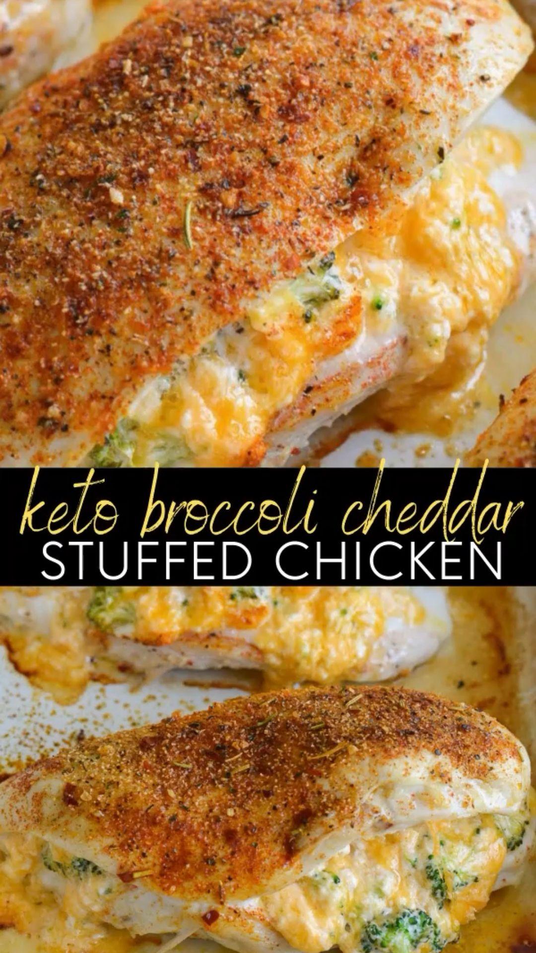 Keto Broccoli Stuffed Chicken Recipe.