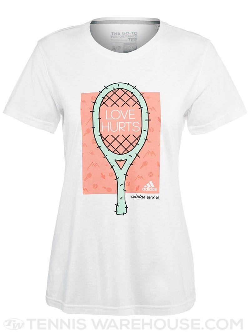 Adidas Women S Love Hurts Cactus T Shirt Tennis Shirts Tennis Clothes Tennis Uniforms