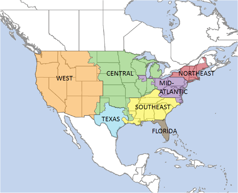 Mid Atlantic Us Map Map showing the Mid Atlantic regionin case you were wondering