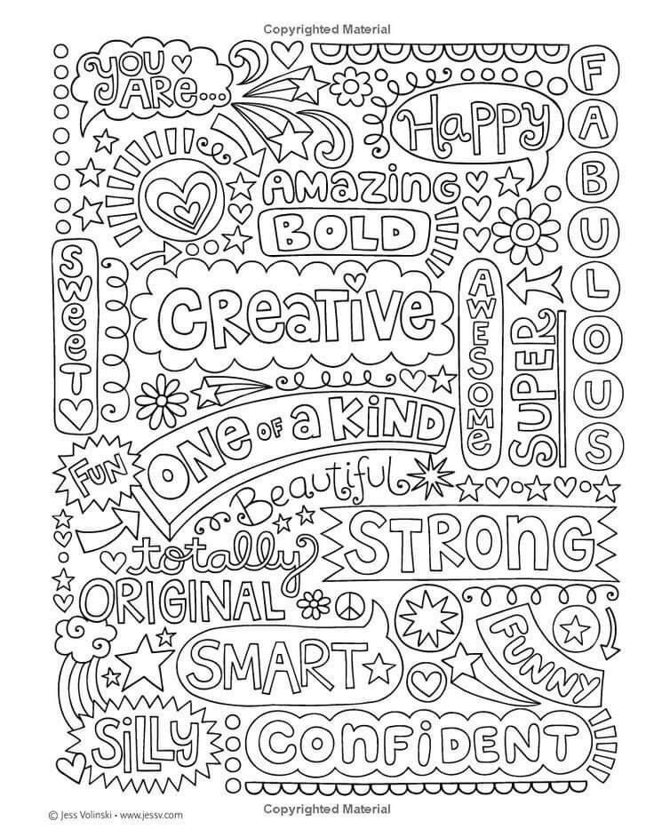 Pin by Deb Evans on For the Teacher in Me Quote coloring