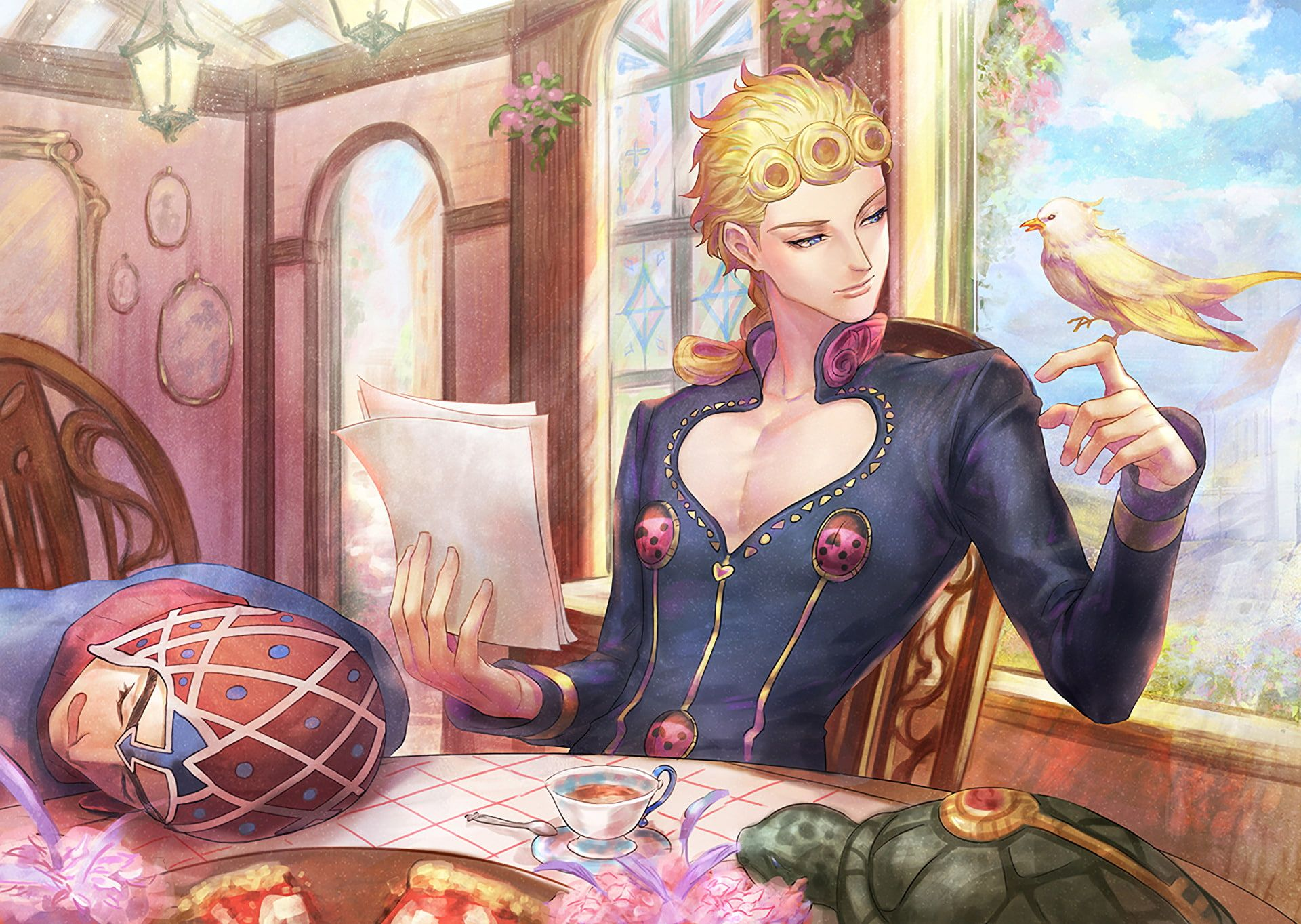 Anime Jojo S Bizarre Adventure Giorno Giovanna 1080p Wallpaper Hdwallpaper Desktop Jojo Anime Jojo Bizarre Jojo Bizzare Adventure