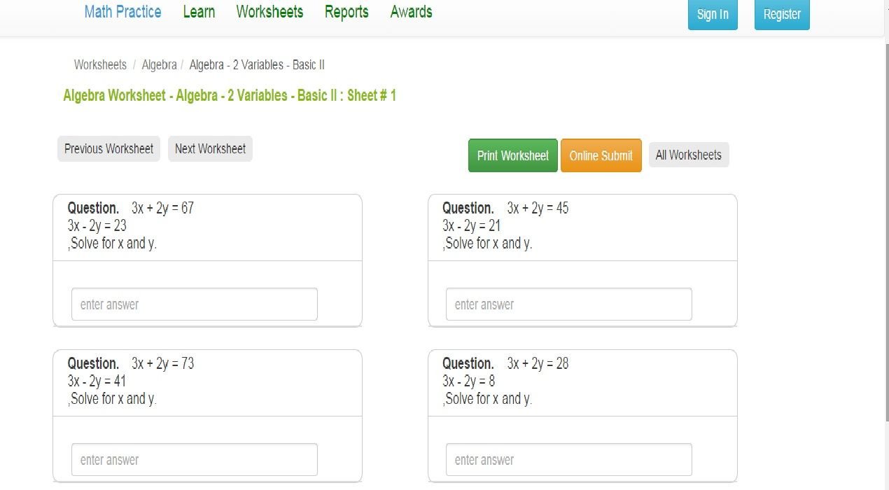 ipracticemath designed printable math learning worksheets. find so ...