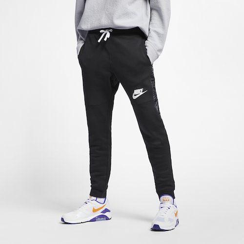 Nike Hybrid Jogger Pants - Black / White | Mens sportswear ...