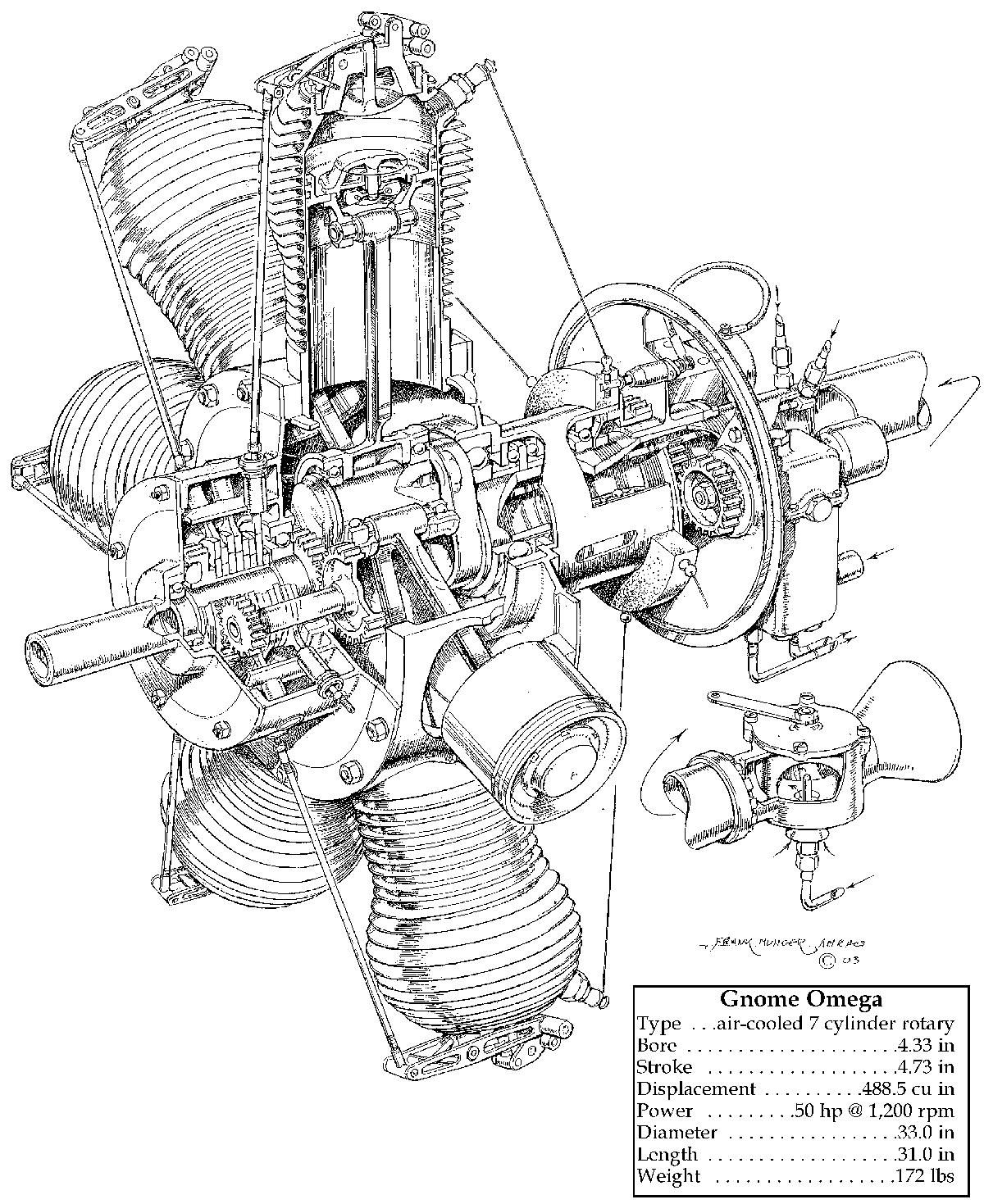 hight resolution of rotary engine commonly used in carrier aircraft in wwii