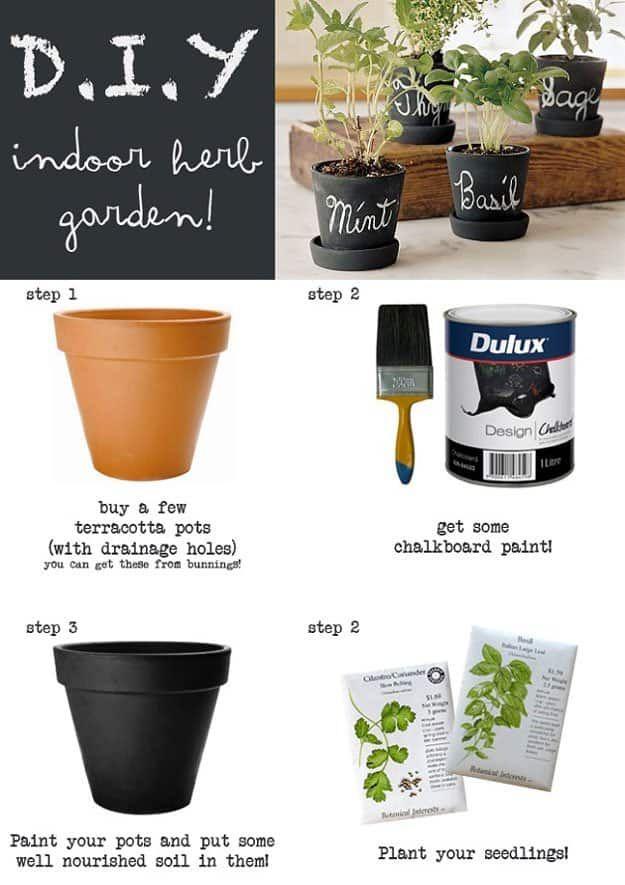 chalk paint indoor herb garden fun and easy indoor herb garden ideas