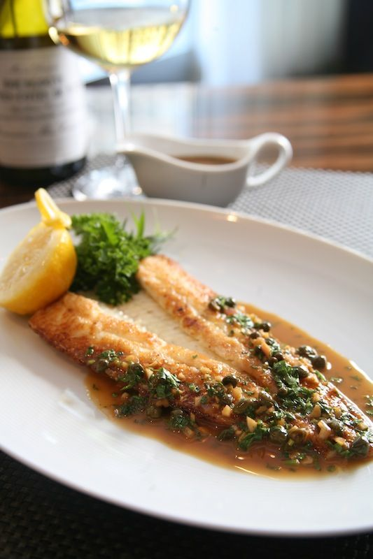 Sauteed Dover Sole with Soy Caper Brown Butter.