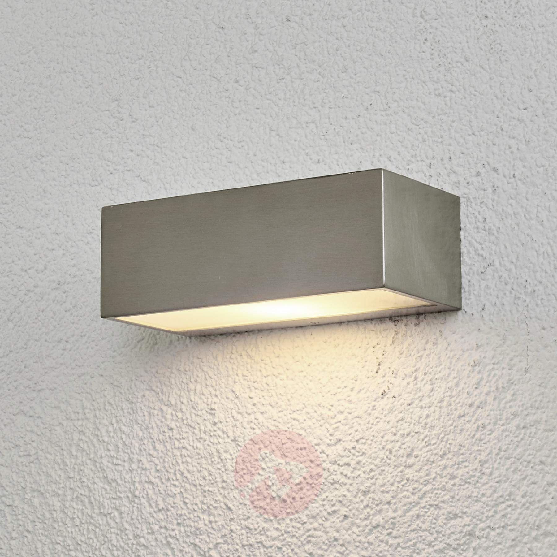 Stainless Steel Outdoor Wall Light Leonora Outdoor Wall Lighting