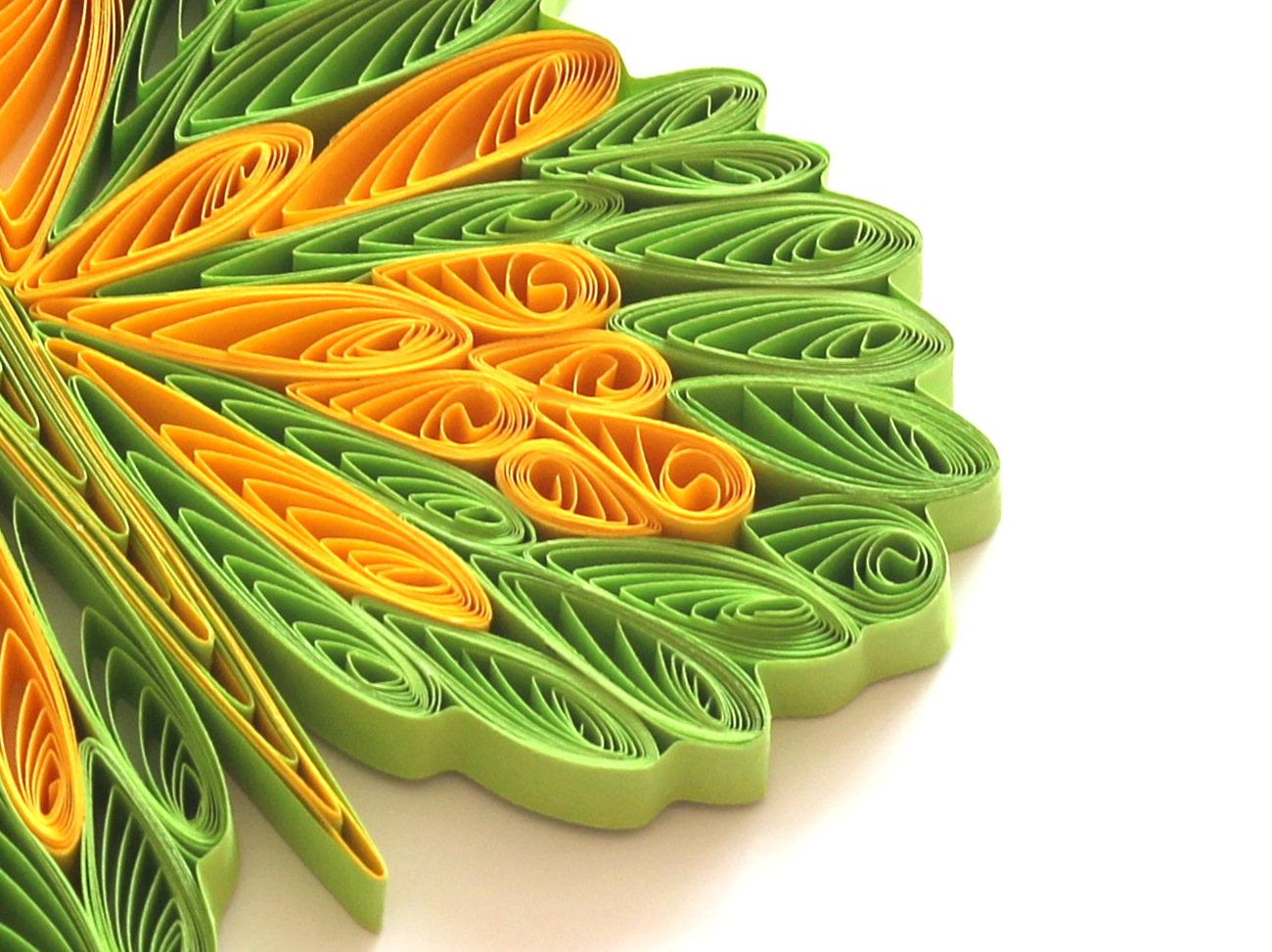 Quilling wedding decorations  Butterfly Green Yellow Colorful Bright Gift Christmas Wedding