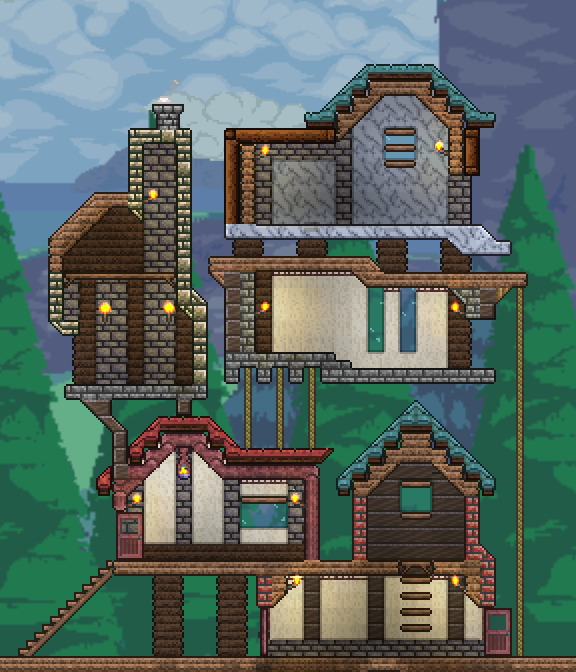 Terrarium Terraria House Design: Pin By Daniel Leach On Terraria