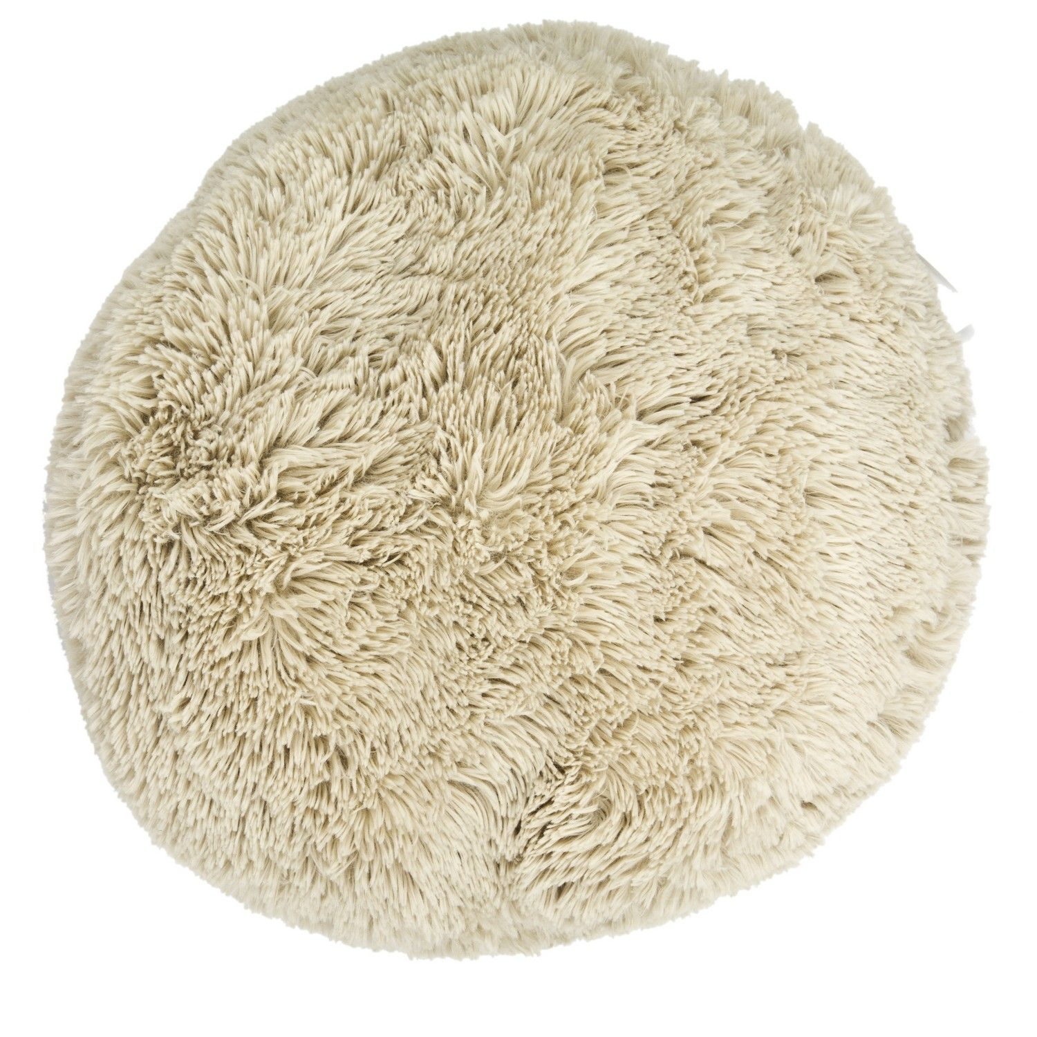 Buy Round Plush Bear Cushion in Beige | Cushions | The Range