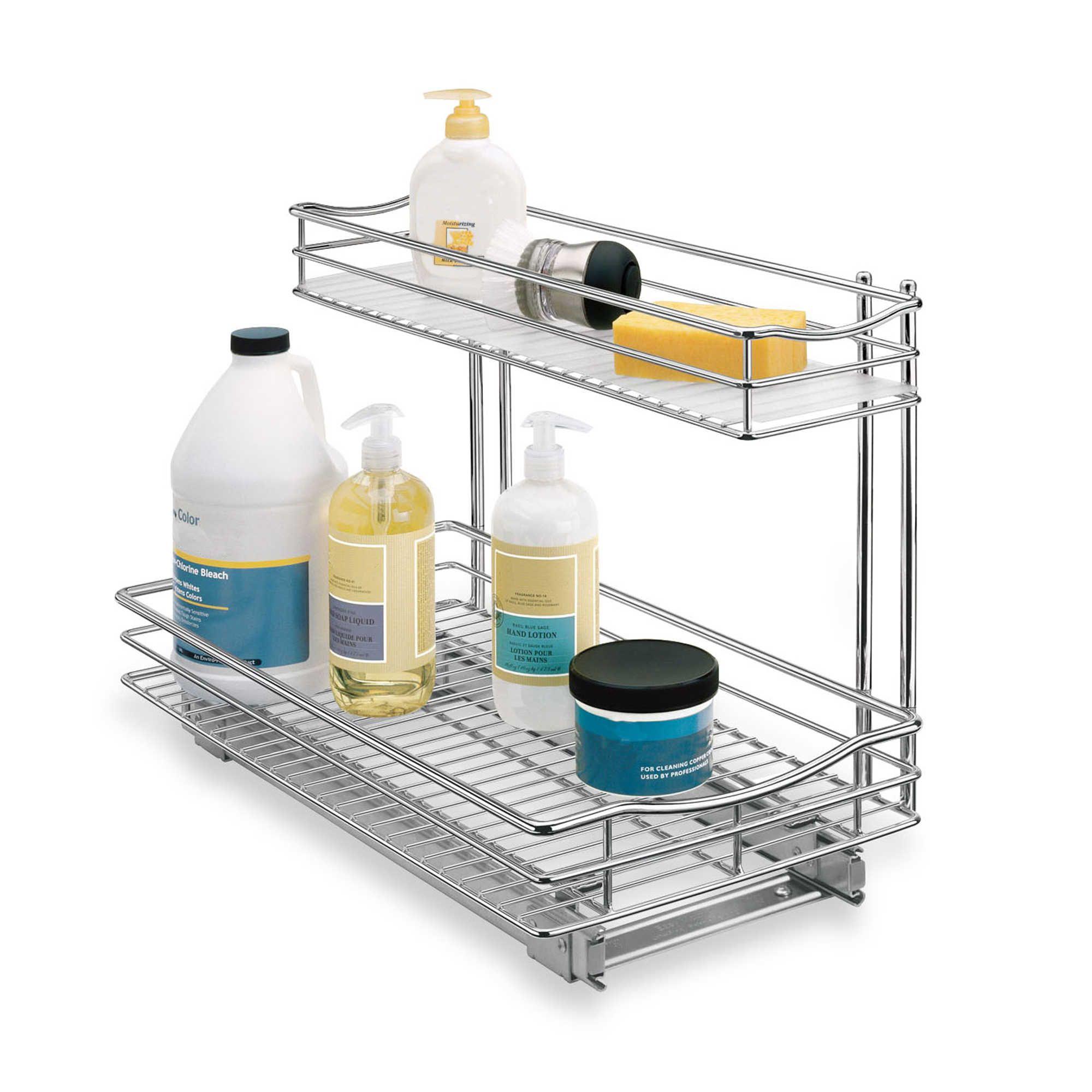 Lynk inch x inch deep rollout undersink drawer kitchen