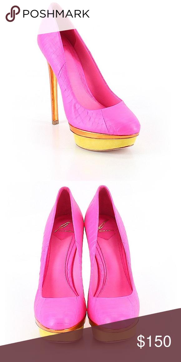 8fcd8ffd486 Brian Atwood Heels....Sz: 8.5...$395...Color: Pink Description ...