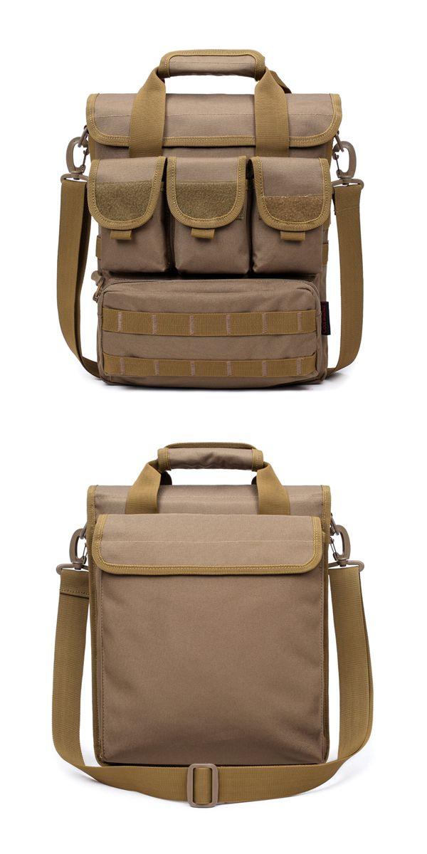 a09440352eb6 Men Tactical Bag Camo Military Shoulder Bag Outdoor Casual Handbag ...