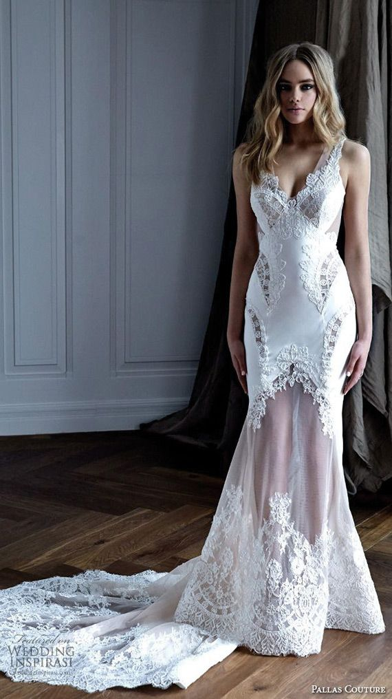 What a bombshell 15 sheer and illusion wedding dresses 15 stunning sheer nude and illusion wedding dresses see them all at junglespirit Gallery