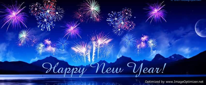 Blue Happy New Year 2013 Facebook FB Timeline Covers