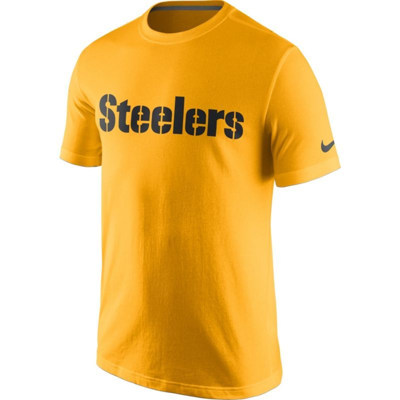 Nike Men s Pittsburgh Essential Wordmark Gold T-Shirt cc33fe387