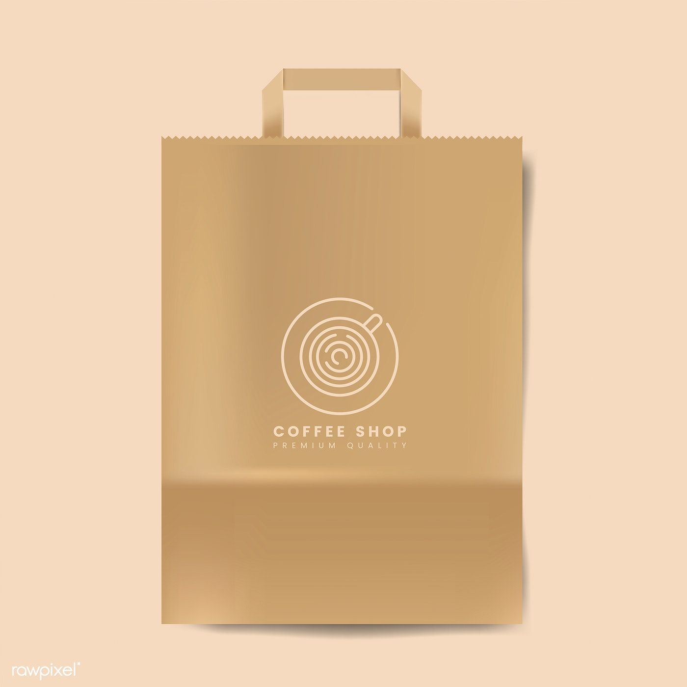 Download Paper Bag Mockup Isolated Vector Free Image By Rawpixel Com Bag Mockup Bags Paper Bag