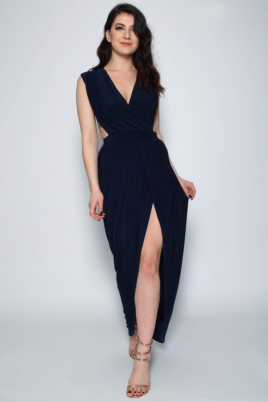 78e5d25036c Sleeveless Goddess Slinky Maxi Dress - Clothing Wholesalers - Missi London  UK