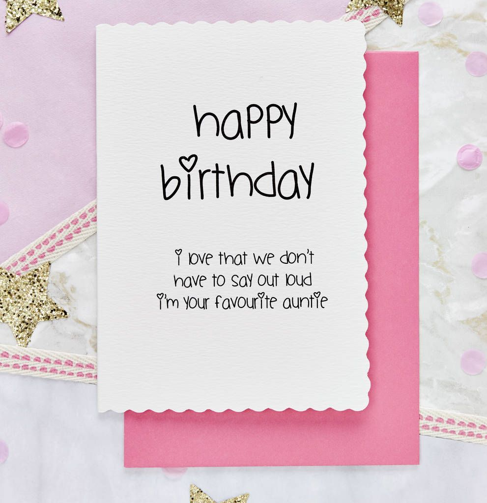 Happy Birthday From Your Favourite Auntie Niece Card In 2021 Happy Birthday Niece Happy Birthday To Niece 16th Birthday Quotes