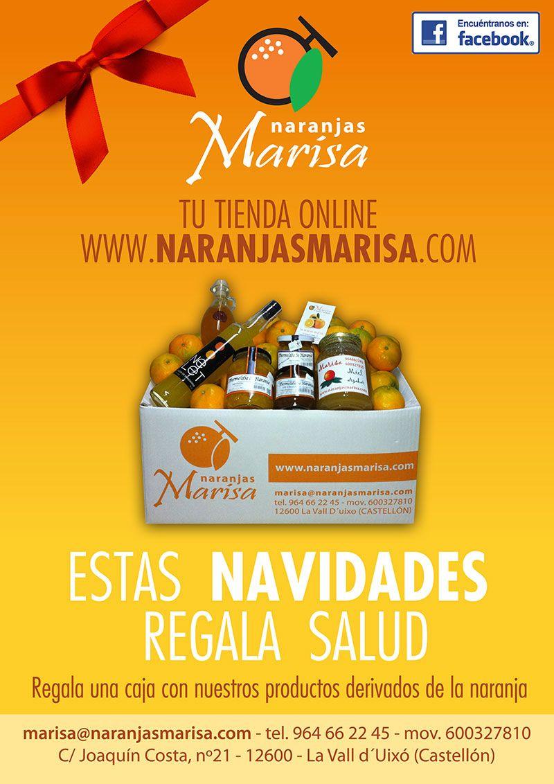 Naranjas Marisa regala una caja de nuestros productos por Navidad.