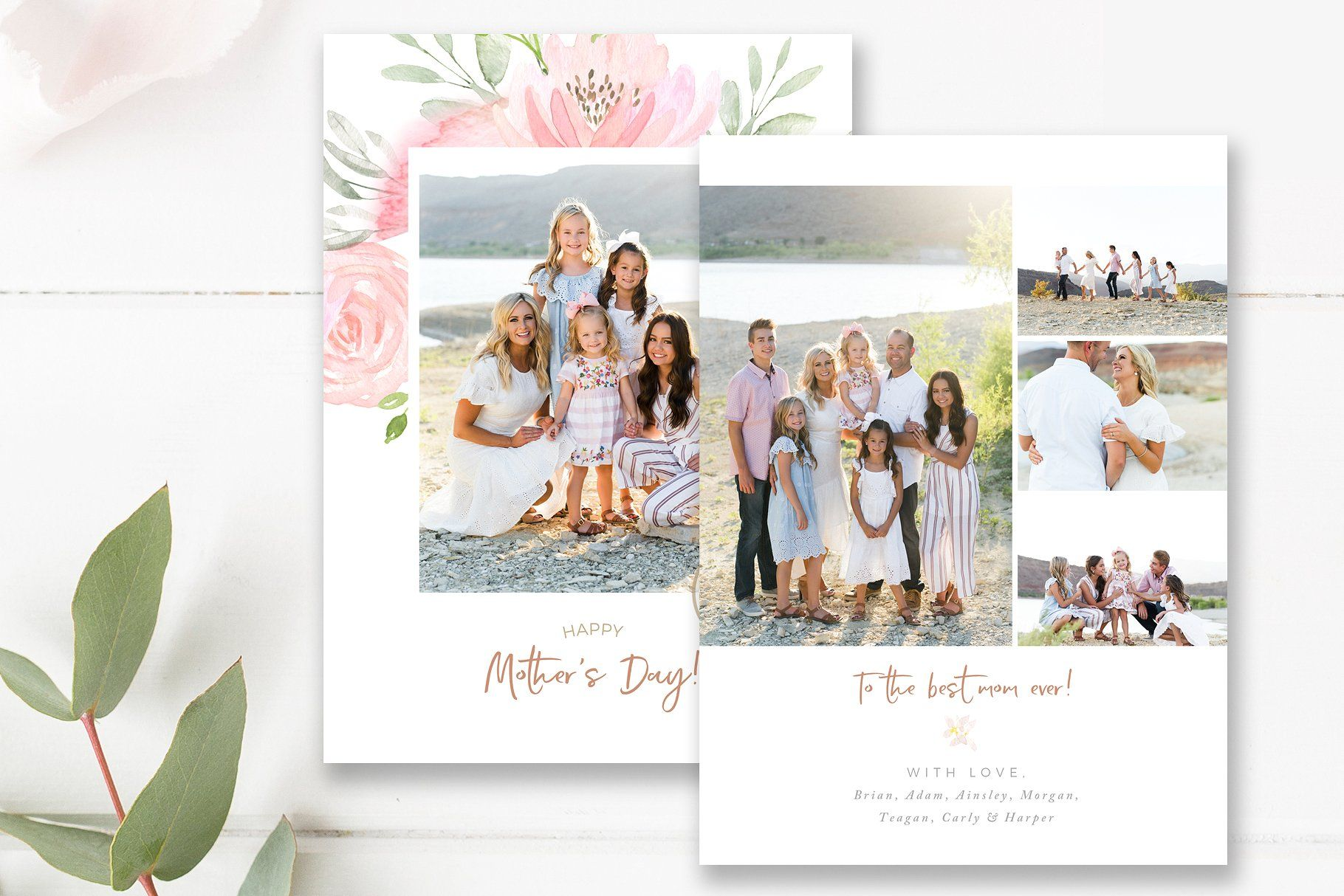 Mother S Day Photo Card Template Photo Card Template Photoshop Template Design Card Template