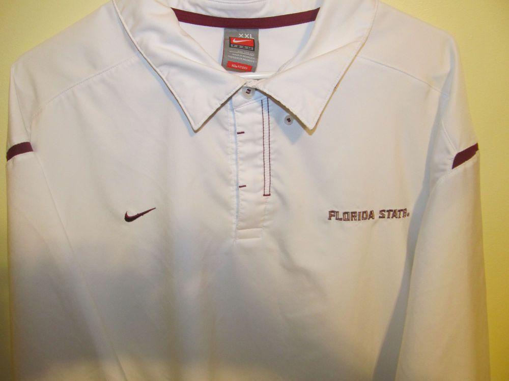 12dda10d Nike Dri-Fit Florida State Seminoles Sideline Polo shirt , Adult 2XL |  Sports Mem