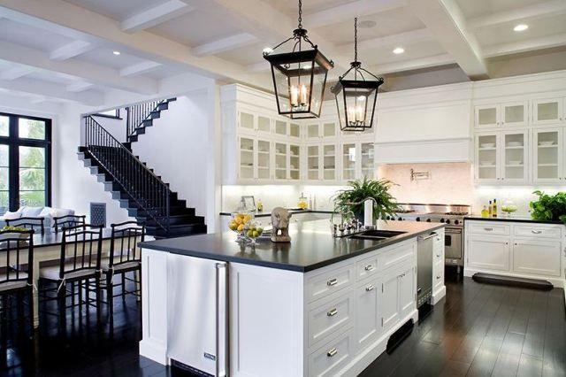 Kitchen Lighting Fixtures Black Lantern Home Kitchens Wood