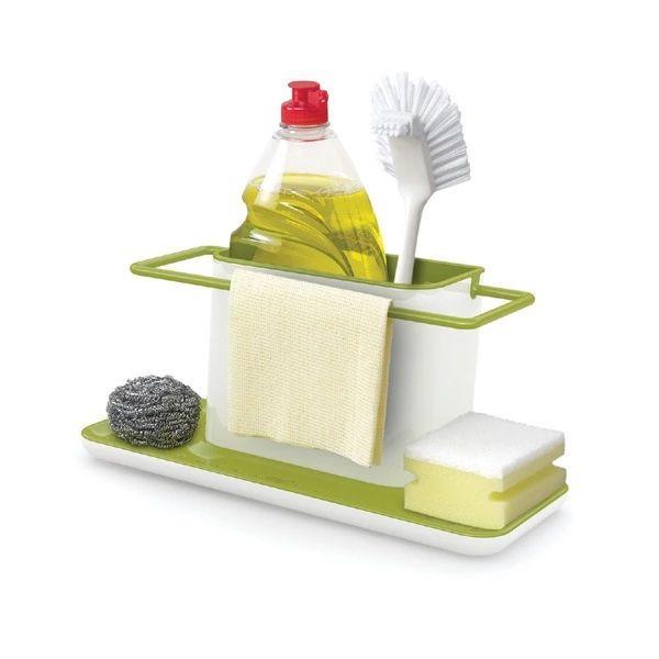Kitchen Storage Organizer Rack Soap Sponge Brush Holder Sink Caddy Cabinet Handy