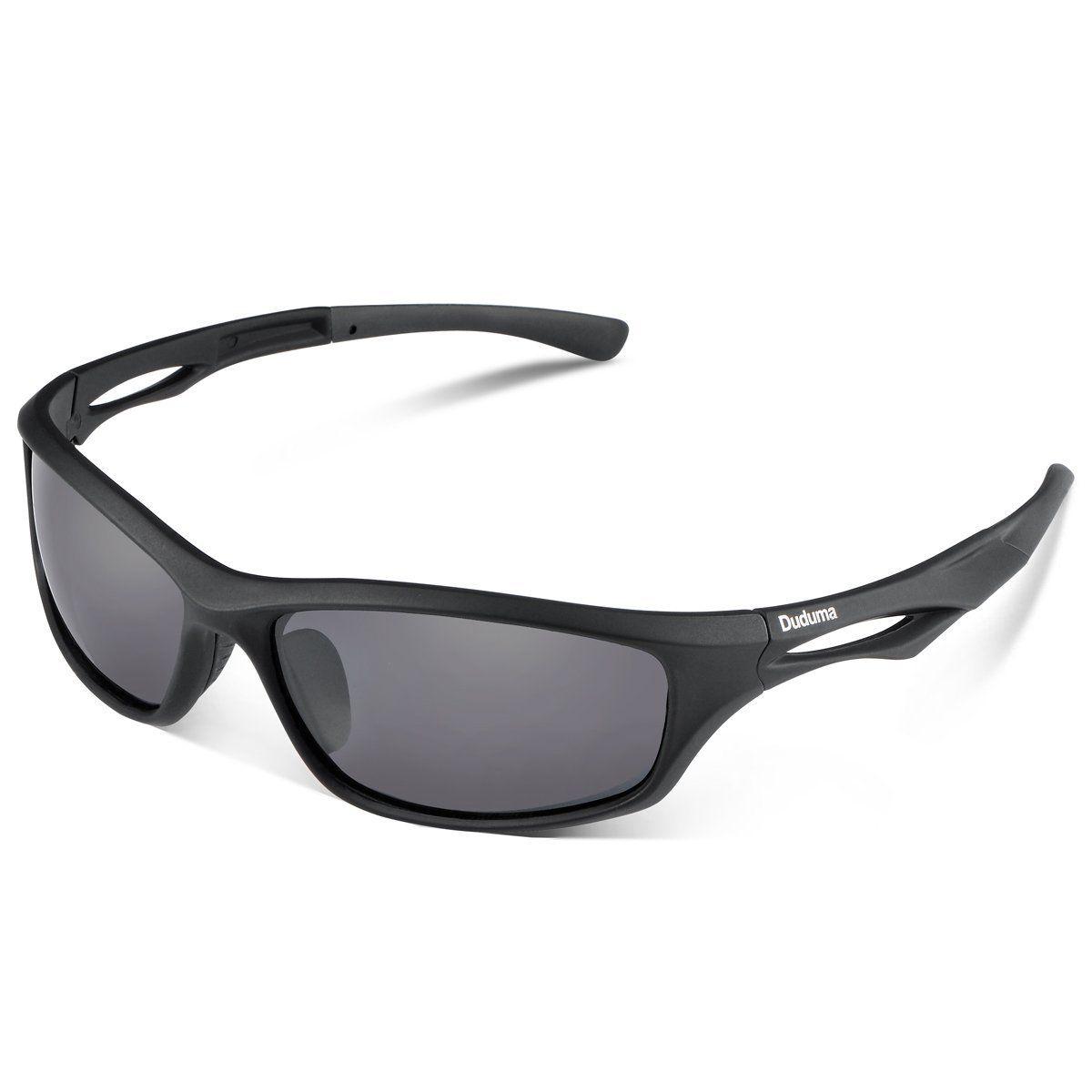 a460ea22206 Duco Gafas de sol deportivas polarizadas para hombre con ultraligero y marco  de metal irrompible