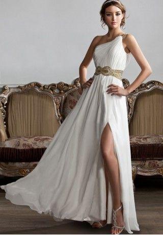 champagne or blush; like a greek goddess