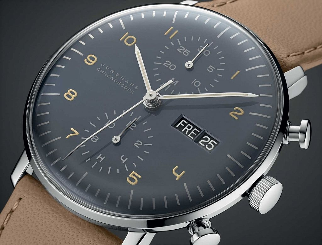 new 2015 max bill for junghans chronoscope watch style. Black Bedroom Furniture Sets. Home Design Ideas