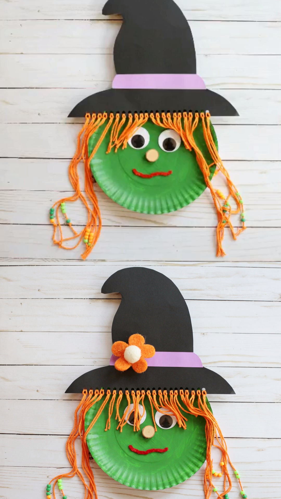 Paper plate witch craft for kids #preschoolers
