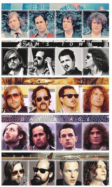 The Killers, throughout the years and albums.  The loves of my life